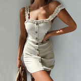 Backless Casual Mini Dress