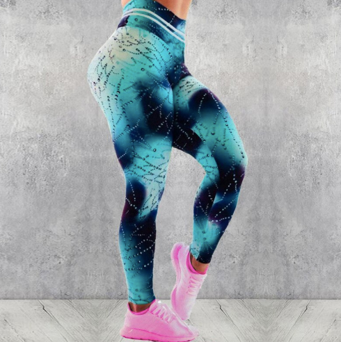 Fitness Water Print Leggins