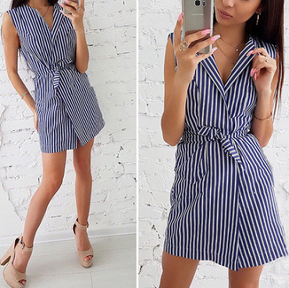 Women's Striped Print Dress