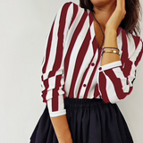 Striped Chiffon Blouses