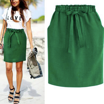 Green Skirt Bow