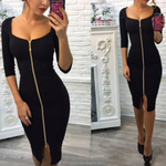 Load image into Gallery viewer, Low Cut Bodycon Dress
