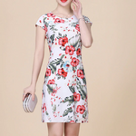 Load image into Gallery viewer, Slim Print Floral Dresses