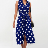 Chiffon Long Dress Polka