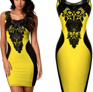 Sleeveless Bandage Club Dress