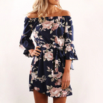 Load image into Gallery viewer, Beach Floral Boho Dress