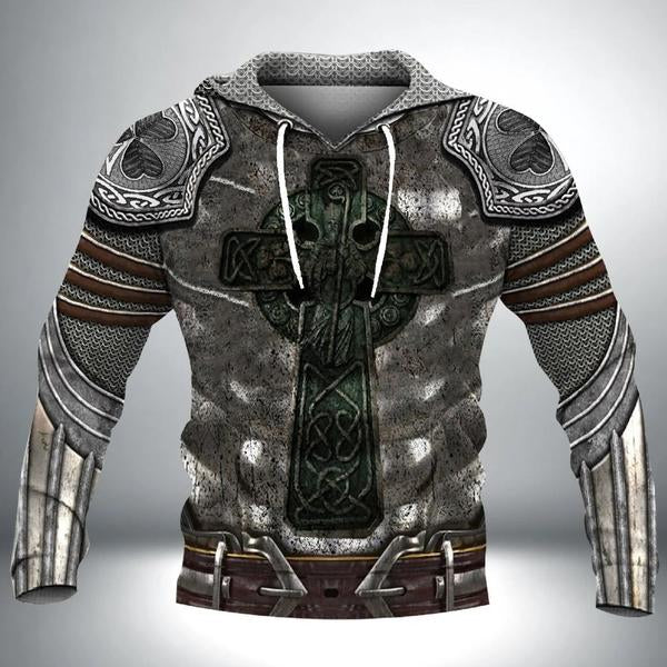 Armor Knight Warrior 3D All Over Printed Hoodie