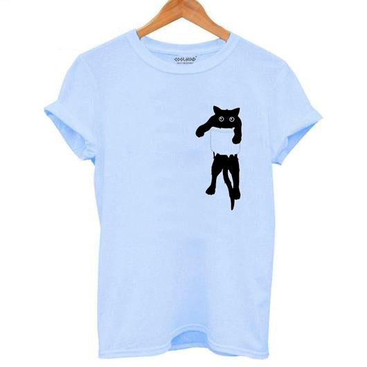 Black Cat T-Shirt Women