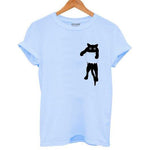 Load image into Gallery viewer, Black Cat T-Shirt Women