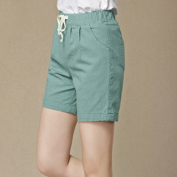 Straight Cotton Linen Pants