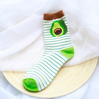 Comfortable Cartoon Fruit Socks Soft Cotton