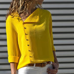 Load image into Gallery viewer, Button Lead Long Sleeve Blouse