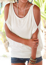 T-Shirt Casual Loose Off Shoulder