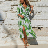 Long Chiffon Dress Floral Print