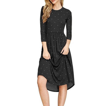 Party Dress Pleated Polka