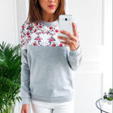 Casual O-neck Long Sleeve Hoodies
