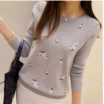 Sweater Embroidery Knitted