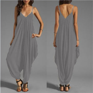 Jumpsuit Strap Sleeveless V-Neck Loose