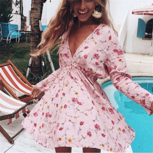 Floral Multi Color Printed Dress