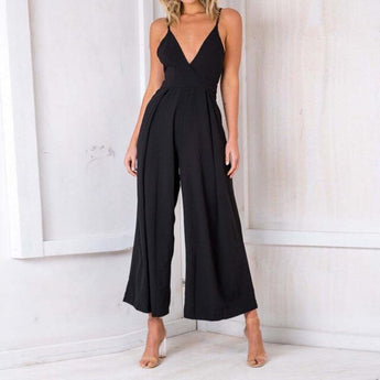 Spaghetti Strap Backless Jumpsuit