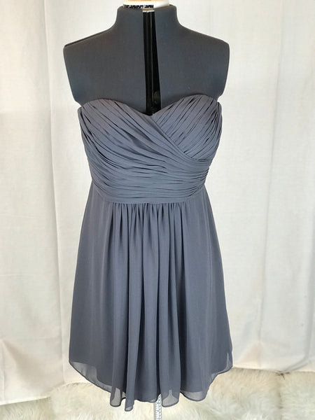 Bill Levkoff – Sweetheart Neck Classic Strapless Bridesmaid Dress - Sz 10 - HEART 'n' SLEEVE