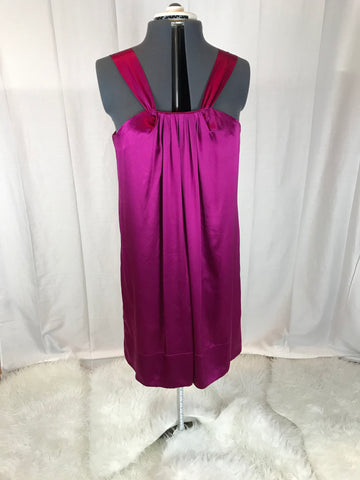 Banana Republic - Pink Silk Cocktail Dress - Sz L - HEART 'n' SLEEVE