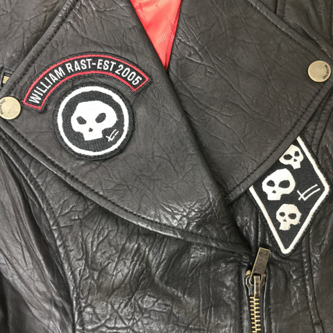 Vintage Looking Leather Hell's Angels Leather Vest w/Patches