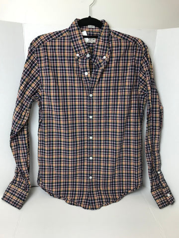 J. Crew - Men's Button Up Slim Fit Quality Woven Tailored Top - Sz Medium - HEART 'n' SLEEVE