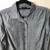 J. Crew - Summer Linen Like Collared Shirt w/Ribbed Detailing - Sz - HEART 'n' SLEEVE