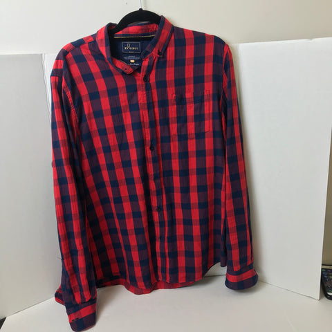 XV Kings - Luxury Brand Long Sleeve Rugby Fit Flannel - Sz XL