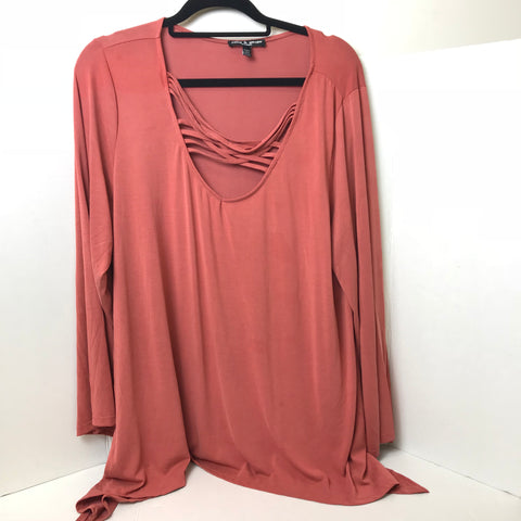 Cable & Gauge - Flowy Yoga or Casual Top - Sz 2X - HEART 'n' SLEEVE