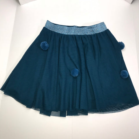 Zara Girls - Kid's Metallic Elastic Waist Mini Skirt - Sz 13/14