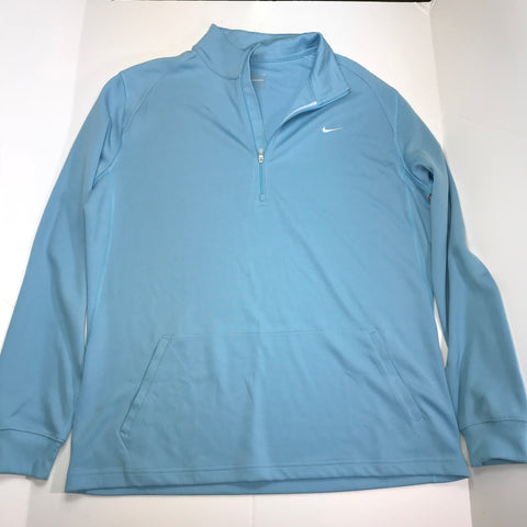 Nike - Performance Half Zip Men's Long Sleeve Pull Over Athletic Sweater - Sz XL - HEART 'n' SLEEVE
