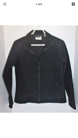 Black Diamond - Athletic Zip Up Thin Stretch Jacket - Sz - HEART 'n' SLEEVE
