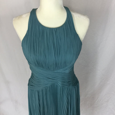 Anne Klein - Crisscross Silk Pleaded Dress - Sz 6