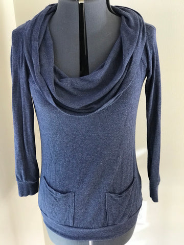 Cielo - Cowlneck Thin Stretch Long Sleeve Sweater -Sz Small - HEART 'n' SLEEVE