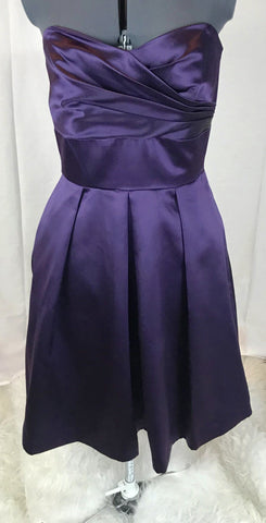 After Six Deep Purple Strapless Dress w/ Hidden Pockets