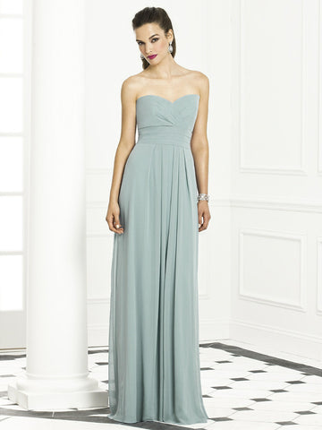 After Six – Classic Long Strapless Bridesmaid Dress w/ Empire Waist - Sz 8 - HEART 'n' SLEEVE