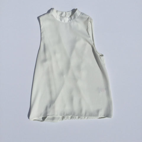 Topshop – V Cut Backless Sleeveless Blouse  - Sz 6