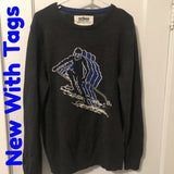 Urban Pipeline - Long Sleeve Ski Racer Graphic Sweater - Sz Large