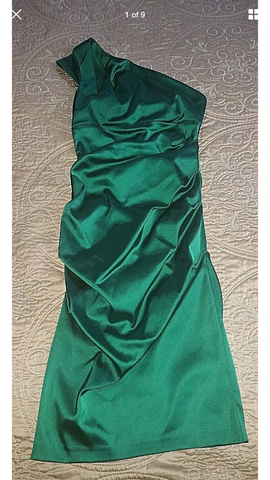 Cache – Asymmetrical One Shoulder Satin Looking Dress - Sz 10