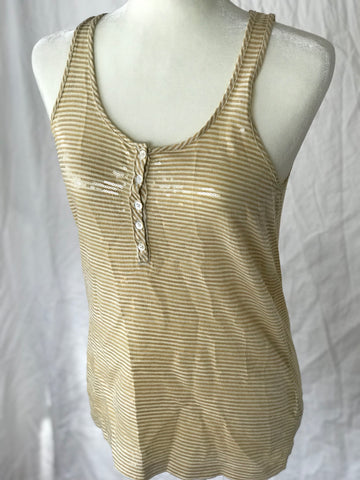J. Crew - Sequin Sparkle Racerback Top - Sz Small - HEART 'n' SLEEVE