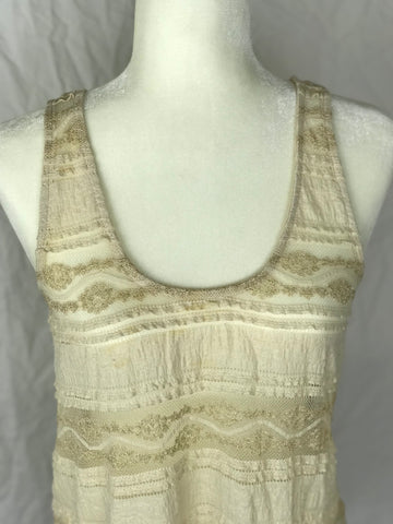 Sparkle & Fade Textured Distressed Tank- Sz Small