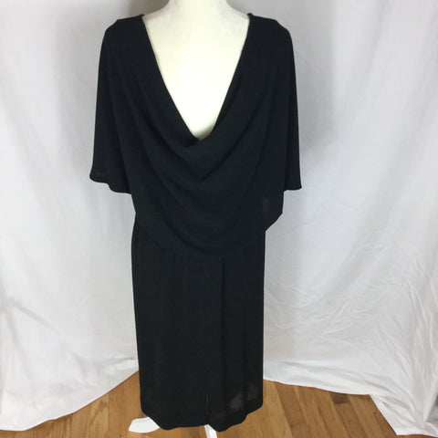 Exposed Neck & Back - Double Sided Deep V Dress - Sz M