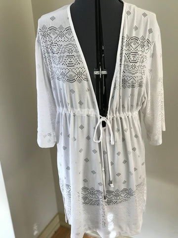 The Perfect Spring Break Swim Cover Up Dress - Sz M