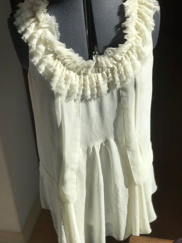 Forever 21 White Detailed blouse - HEART 'n' SLEEVE
