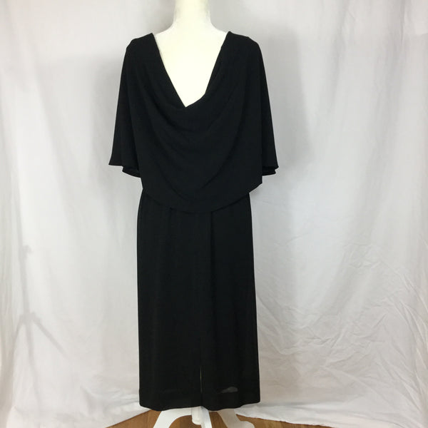Exposed Neck & Back - Double Sided Deep V Dress - Sz M - HEART 'n' SLEEVE