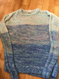 Forever 21 - Ombre Spring Colored Long Sleeve Sweater - Sz Small - HEART 'n' SLEEVE