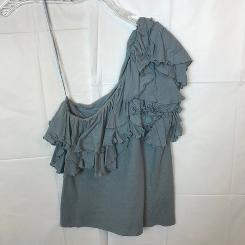 One Shoulder Ruffled Top - HEART 'n' SLEEVE