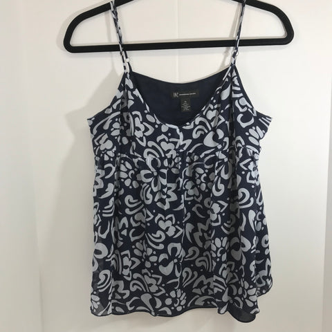 INC 100% Silk Tank Top Blouse Adjustable Straps Sz 14/Large - HEART 'n' SLEEVE